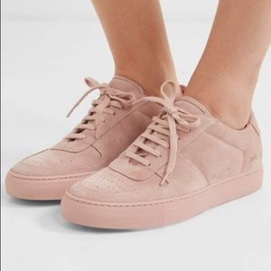 Common projects bball blush suede sneakers 39